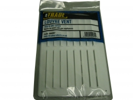 4trade Louvre Vent & Fixed Flyscreen White 241mm X 165mm