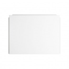 Bath End Panel 700mm White Acrylic