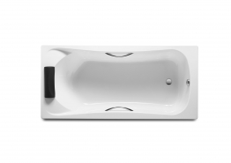 Roca A248016001 Becool Bath White 1700mm X 800 Mm Tg Including Headrest