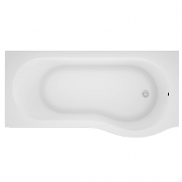 Iflo Rennes P Shaped Shower Bath Right Hand 1500mm X 850mm