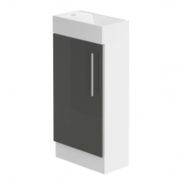 Form 400 Floorstanding Hand Basin Unit/w.h.gloss. Graphite Lucido