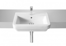 Roca 32778s000 Dama-n Semi-recessed Basin 1 Tap Hole 520mm X 440mm