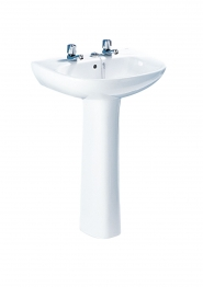 Roca A32829d000 Polo Basin 2 Tap Holes 560mm X 450mm White