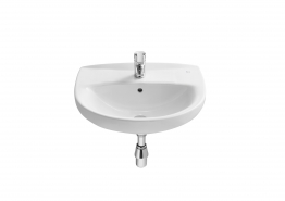Roca A326393005 Laura Basin 1 Tap Hole 560mm X 460mm White