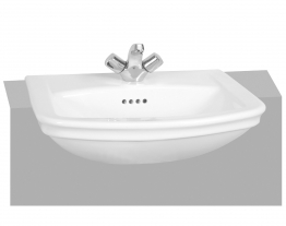 Vitra 4170b003-0047 Serenada Semi Recessed Washbasin 2 Tap Hole 560mm