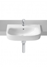 Roca 32799s000 Debba Semi-recessed Basin 1 Tap Hole 520mm X 400mm