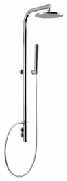 Abode Ab2505 Circular Wall Mounted Thermostatic Shower Post