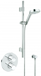 Grohe Grohtherm 3000 Cosmopolitan Thermostatic Shower Mixer With Shower Set