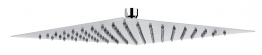 Abode Ab2429 Storm 3mm Square Showerhead 30mm X 30mm