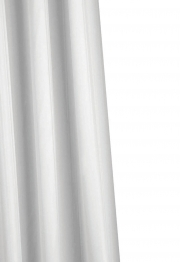 Croydex Shower Curtain Plain White
