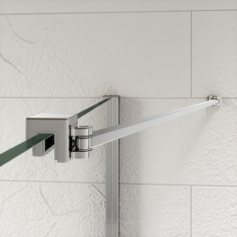 Kudos Ultimate 2 Angled Glass To Wall Stabiliser Pack Rail 300mm
