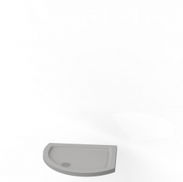 Kudos Concept 2 Tray Curved Offset Right Hand White 1000x810mm