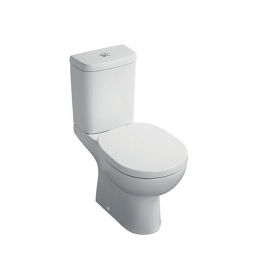 Ideal Standard Sandringham 51 S161901 Close Coupled Toilet Pan & Cistern Pack With Soft Close Seat