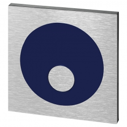 Wirquin 55718612 Pro Eco Stop Brushed Metal Push Plate
