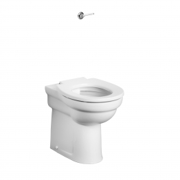 Armitage Shanks S305701 Contour 21 Back To Wall Rimless Raised Height Wc Pan With Horizontal Outlet White
