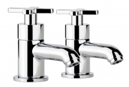 Abode Ab1061 Serenitie Basin Pillar Taps Chrome