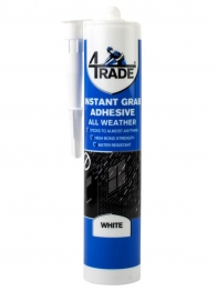 4trade All Weather Instant Grab Adhesive White 290ml