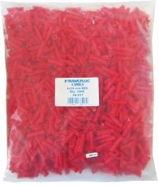 Rawlplug Plugs Bag Of 1000 - Red