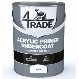 4trade Acrylic Primer Undercoat Paint White 5l