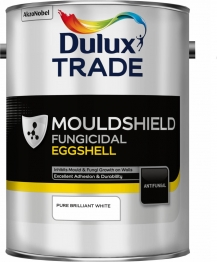 Dulux Trade Quick Drying Eggshell Mouldshield Pure Brilliant White 5l