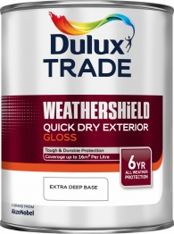 Dulux Trade Weathershield Quick Drying Exterior Gloss Extra Deep Base 1l