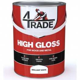 4trade Gloss Paint Brilliant White 5l