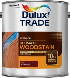 Dulux Trade Weathershield Ultimate Woodstain Rich Mahogany 2.5l