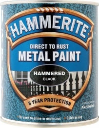 Hammerite Metal Paint Hammered Black Aerosol 400ml