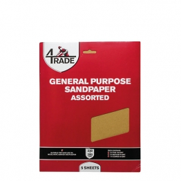 4trade General Purpose Sandpaper 5 Pk Fine