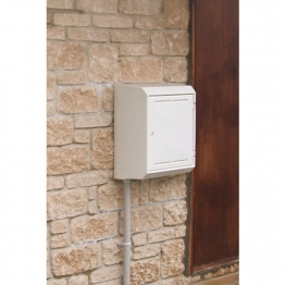 Mitras Mk2 Surface Mounted Gas Meter Box White (complete With Backplate And Cover)