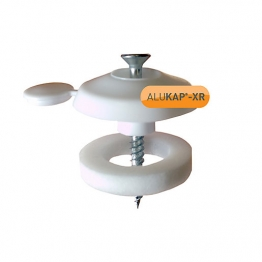 Alukap-xr 25mm Fixing Buttons White 10 Pack