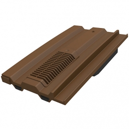 Mini Castellated Tile Vent Brown Qty 6