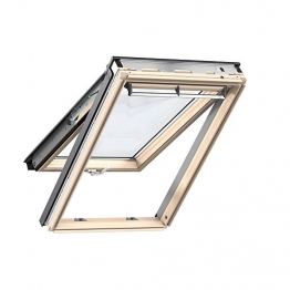 Velux Top Hung Roof Window 1340mm X 1400mm Lacquered Pine Gpl Uk04 3070