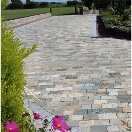 Natural Paving Fossestone Rustic Quartz Mixed Pack
