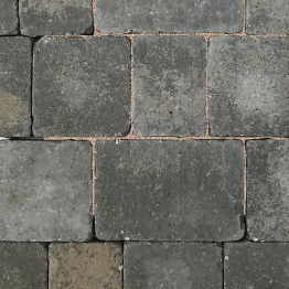Charcon Woburn Concrete Block Paving Rumbled 134mm X 134mm X 60mm Medium Graphite Combined Sizes