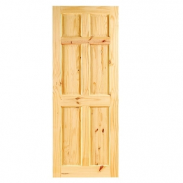 35mm Internal Knotty Pine 6 Panel Door. Imperial 6'6