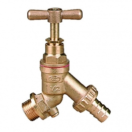 Plasson Bib Tap Hose Union With Check Valve 12mm