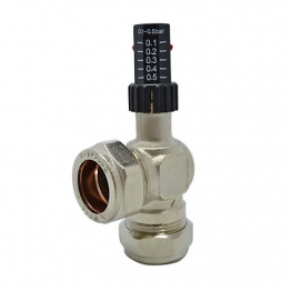 Plumbright Auto Bypass Valve 22mm Angled