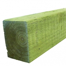 Green Treated Incised Uc4 Fence Post 75mm X 75mm