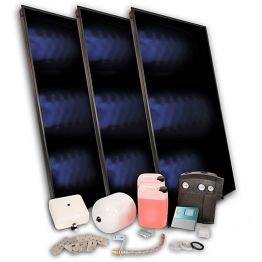 Solfex 3 X Fk250p On Roof Solar Thermal Prestige Pack A-frm Dsk-05987