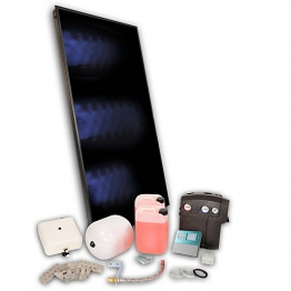 Solfex 1 X Fk250p On Roof Solar Thermal Prestige Pack Slate