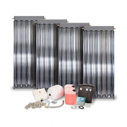 Solfex Dsk-05927 Energy Systems 4 X Cpc6 Inox Vacuum Tube Solar Thermal Pack For Slate Roof