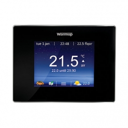 Warmup 4iebp Smart Wifi Thermostat Controller Onyx Black