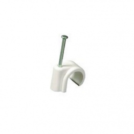4trade 22mm Nail In Clip White (pack Of 100)