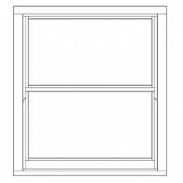 Softwood Sliding Sash 24mm Fully Glazed Window 1080mm X 1195mm Letvs1012