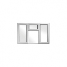 Upvc Window 4p Shield6 White 1770mm X 1190mm
