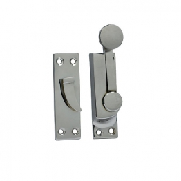 4trade Chrome Plated Sash Fastener