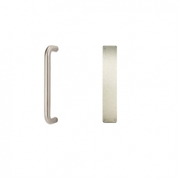 Pull Handle Flat Plate Satin Stainless Steel 229mm