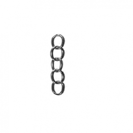 4trade Oval Chain 1/2in X 15g Steel Chrome Plated 1.0m Hank