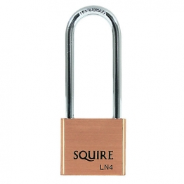 Squire Ln4-2.5 Lion Padlock Long Shackle Brass 40mm